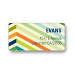 Chic Chevron in Blue -- Unique Address Labels