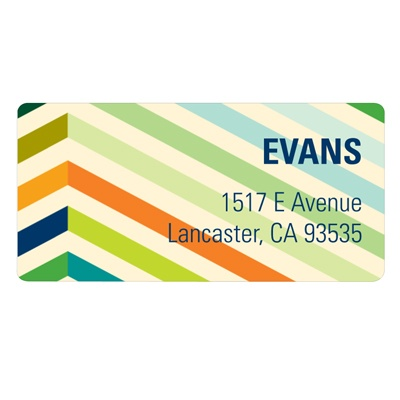 Chic Chevron in Blue Unique Address Labels
