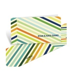 Chic Chevron in Blue -- Personalized Thank You Cards