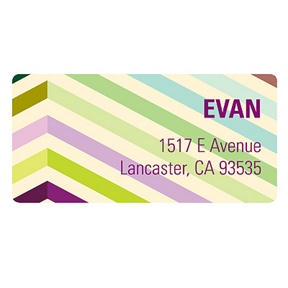 Chic Chevron -- Unique Address Labels