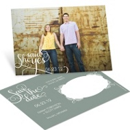 Say it Sweetly Horizontal Photo Save the Date Postcards