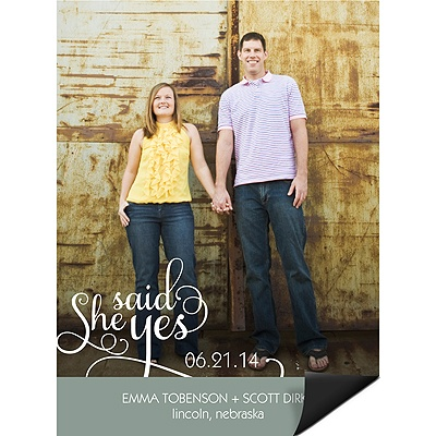 She Said Yes Wedding Save the Date Magnets