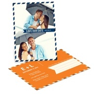 Special Delivery Custom Save the Date Postcards