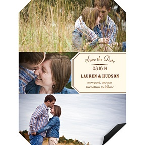 Angled Collage -- Save the Date Magnets