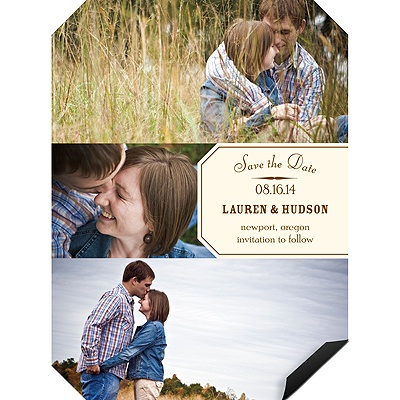 Angled Collage Save the Date Magnets