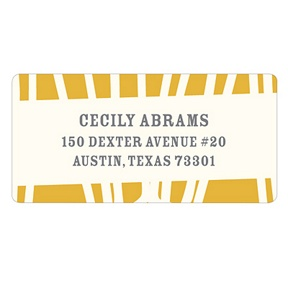 Bold Style -- Wedding Return Address Labels