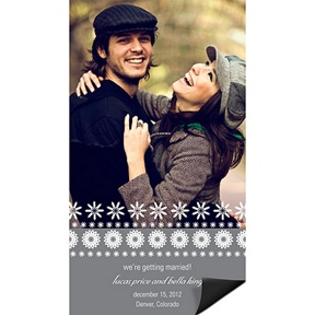 Stamped Snowflakes -- Winter Save the Date Magnets
