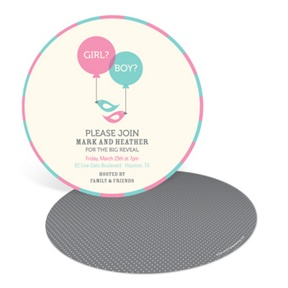 Round Reveal -- Baby Shower Invitations