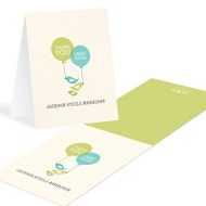 Balloons and Bluebirds Baby Thank You Cards