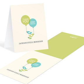 Balloons and Bluebirds -- Baby Thank You Cards