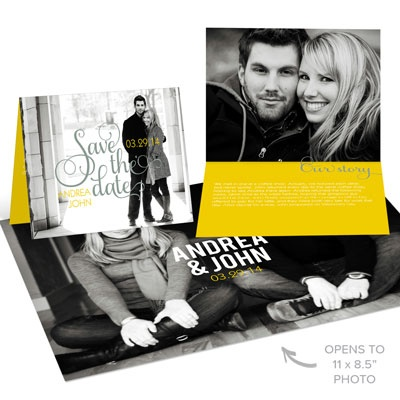 Our Story Poster Save the Date Cards