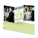 Trifold Tale -- Calendar Save the Date Cards