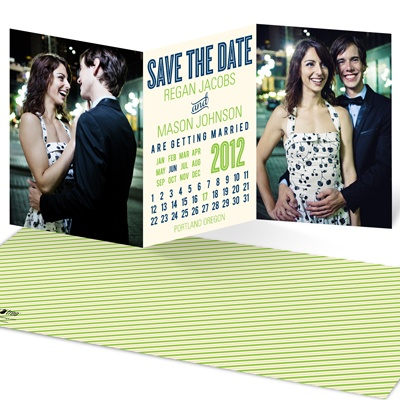 Trifold Tale Calendar Save the Date Cards