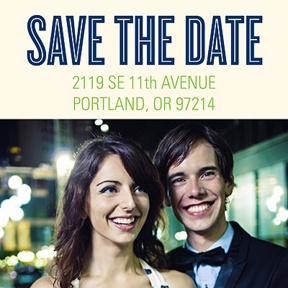 Save the Date -- Photo Address Labels