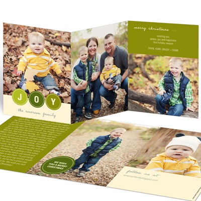 Bubbling With Joy -- Holiday Photo Cards