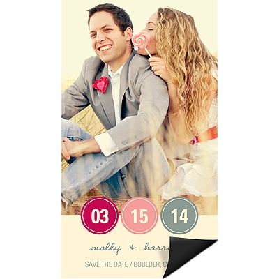 Circling In Photo Save the Date Magnets