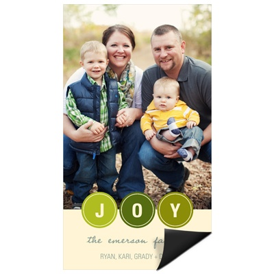 Bubbling with Joy Magnet Holiday Photo Cards