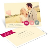 Circle the Date Horizontal Photo Save the Date Postcards