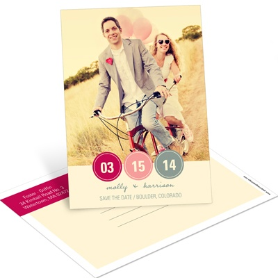 Circle the Date Vertical Photo -- Save the Date Postcards