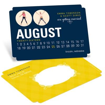 Romantic Calendar Save The Date Postcards