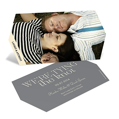 Die-Cut in Love Modern Save the Date Cards