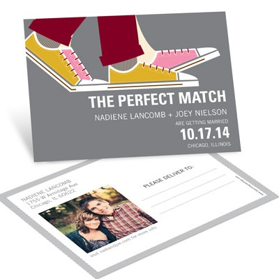 Perfect Match Save The Date Postcards