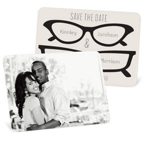 His & Hers Spectacles -- Save The Date Cards