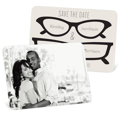 His & Hers Spectacles Save The Date Cards