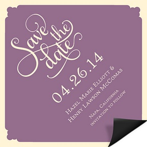 Diamond Shape -- Personalized Save the Date Magnets