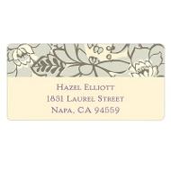 Vintage Floral Design Personalized Wedding Address Labels