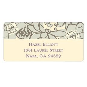 Vintage Floral Design -- Personalized Wedding Address Labels