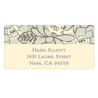 Vintage Floral Design Personalized Wedding Address Labels