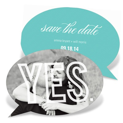 Chat Bubble Save The Date Cards