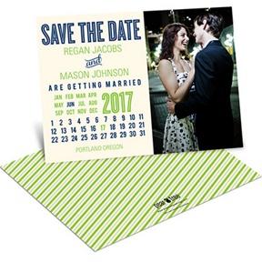 Cheerful Calendar -- Save the Date Calendar Cards