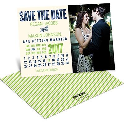 Cheerful Calendar Save the Date Calendar Cards