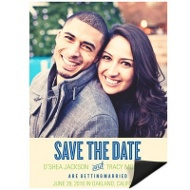 She Said Yes Vertical Save the Date Magnets