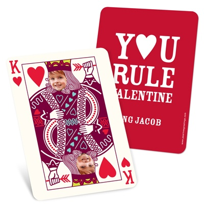 Ruling King Kids -- Photo Valentines Cards