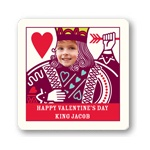 Ruling King Kids -- Valentine's Day Personalized Stickers