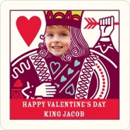 Ruling King Kids Valentine's Day Personalized Stickers