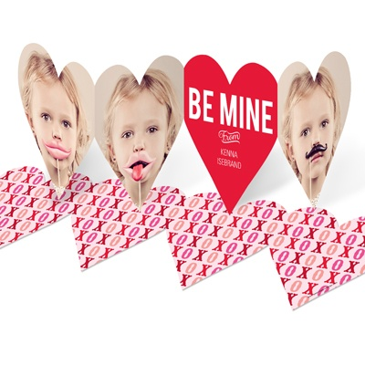 Heart Paper Chain Valentine Photo Cards