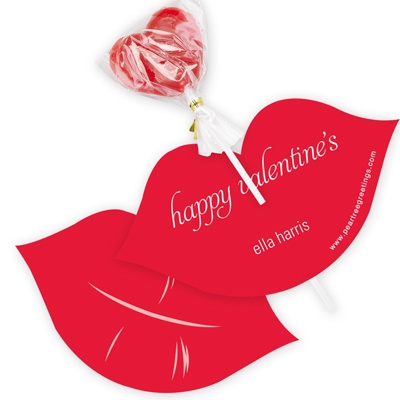 Love and Lips -- Candy Valentine Cards