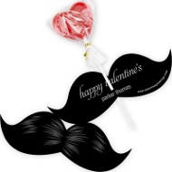 Stylish Mustache Lollipop Holder Classroom Valentines