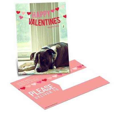 Blissful Heart Banner Valentine Postcards