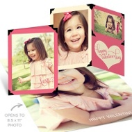 Scrapbook Poster Valentine's Day Photo Cards