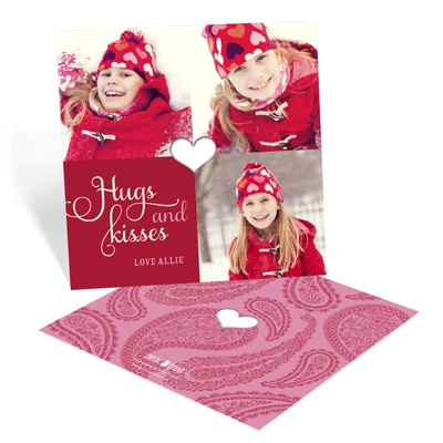 Special Cut Paisley Valentine Photo Cards