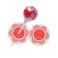 Pretty Petals Lollipop Holder Classroom Valentines