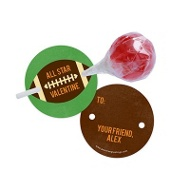 All Star Football Lollipop Holder Classroom Valentines