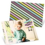Wrapped Ribbon Personalized Easter Cards