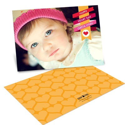 Wrapped in Ribbon Horizontal Photo -- Valentine's Day Photo Cards