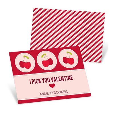Picked Cherries  Valentine's Day Cards for Kids